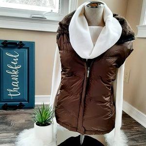 Columbia down vest with detachable hood